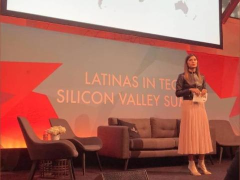 About once per quarter, Rincon goes to events like the Latina in Tech summit she attended in San Francisco in November, where she talked about growing up in Venezuela, Canada, Indonesia, and the US and how it shaped the way she