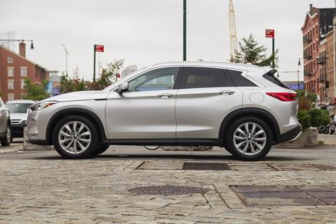 According to Infiniti, the QX50 boasts a slippery 0.32 coefficient of friction.