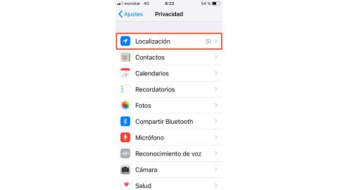 Ajustes privacidad iPhone