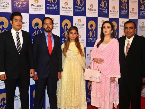 Mukesh Ambani is the richest person in Asia and has three children, all of whom are in their 20s, with his wife, Nita.