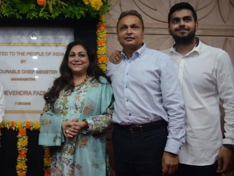 El hijo menor de Anil, Anshul, también se unirá a la empresa familiar como director ejecutivo de la junta directiva de Reliance Infrastructure.
