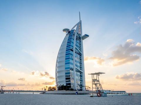 The Burj Al Arab in Dubai.