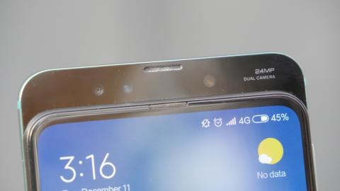 Cámara delantera del Xiaomi Mi MIX 3.