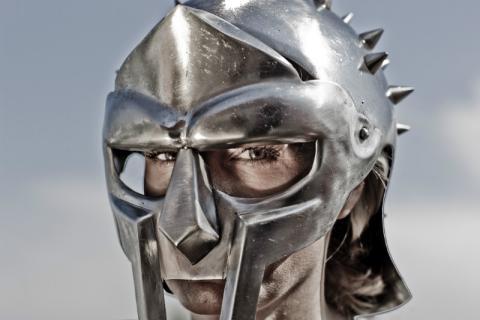 El casco de la película Gladiator