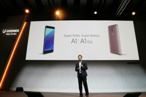 El CEO de Gionee, en la presentación de su modelo A1 en 2017
