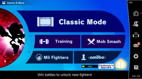 "The ""Challenger's Approach"" option will appear occasionally to let you rematch unlockable characters."