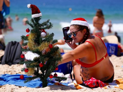 Christmas Eve in Australia is in the peak of summer.