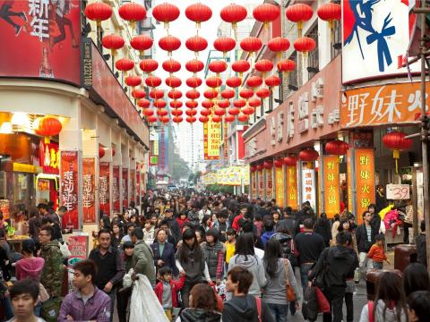 Christmas Eve is one of the biggest shopping days of the year in China.