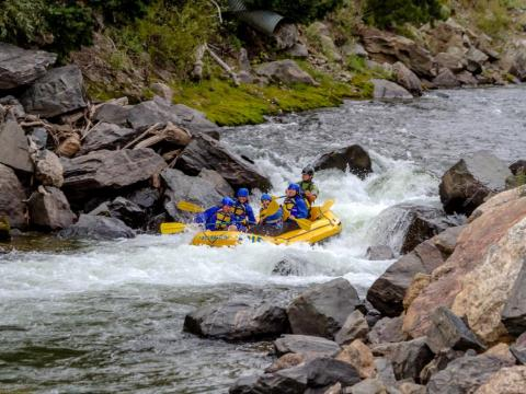 Whitewater rafting on the Colorado River.