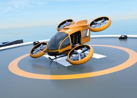 Un dron e-VTOL