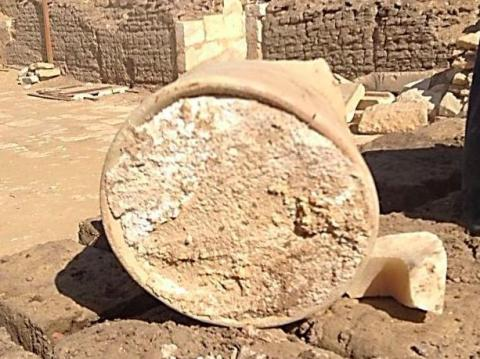 Egyptian excavators also found a 3,200-year-old dairy product: the world's oldest cheese.