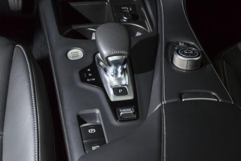 The engine is hooked up to a continuously variable transmission that can send power to all four wheels.