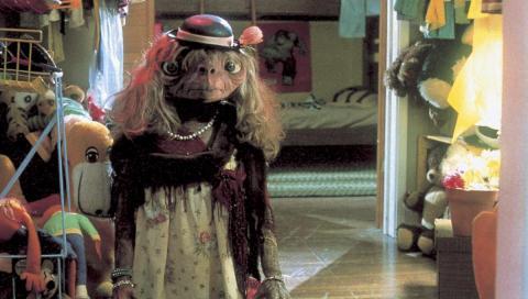 Escena de la película E.T.