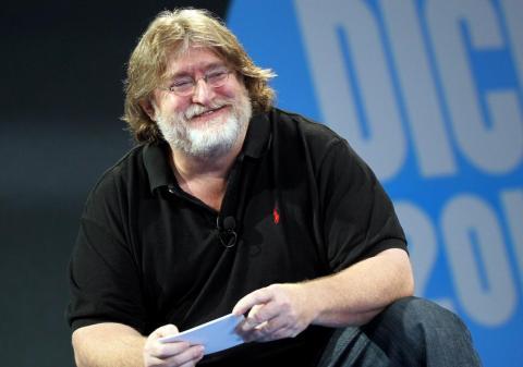Gabe 'gaben' Newell, presidente y cofundador de Valve Software, en 2013.