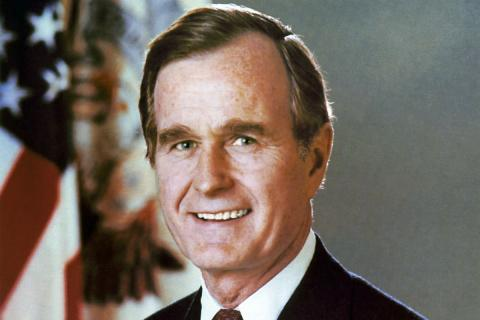 George H W Bush, expresidente de EEUU.