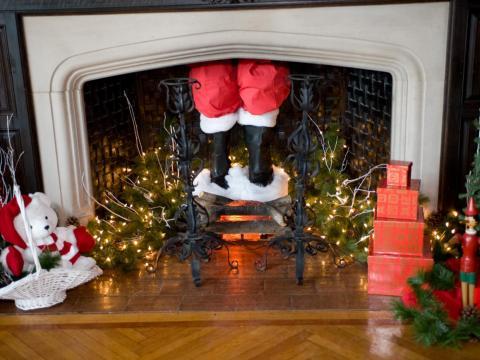 [RE] Papá Noel chimenea.