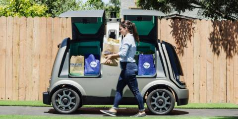 The grocery chain Kroger has partnered with autonomous vehicle company Nuro on deliveries in Arizona.
