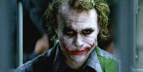 """Heath Ledger como el Joker en """"El Caballero Oscuro""""."""