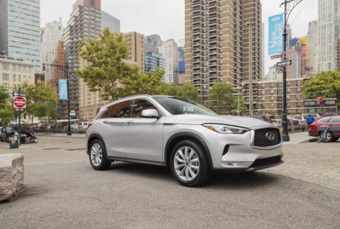 Here it is! Our second generation 2019 Infiniti QX50 test car.