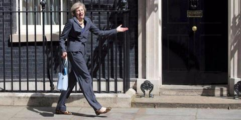 Theresa May, en Westminster