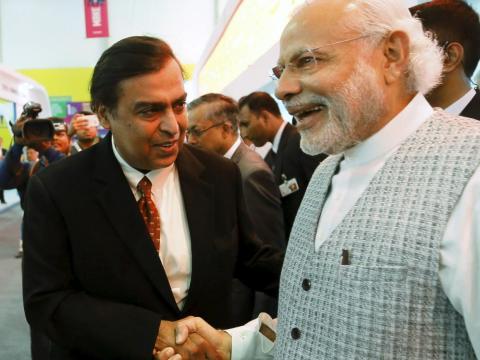 ... El primer ministro indio Narendra Modi...