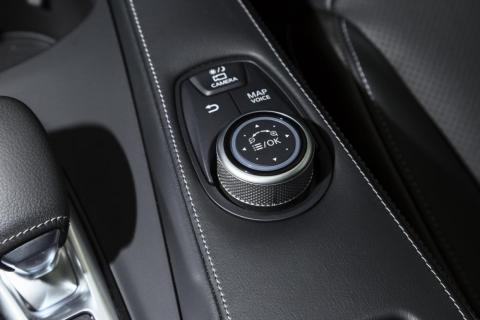 The infotainment system can also be manipulated using this rotary controller.