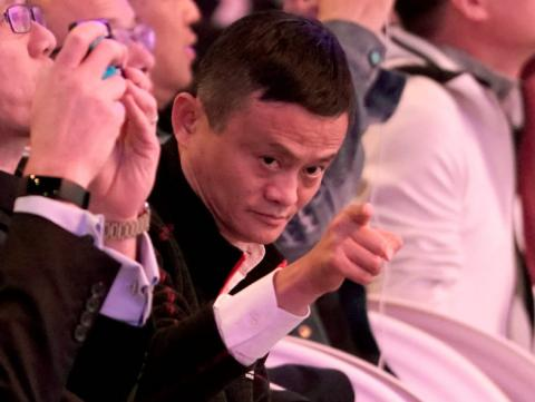 Jack Ma, CEO de Alibaba Group en el Global Shopping Festival en Shanghai, China, 11 de noviembre de 2018.