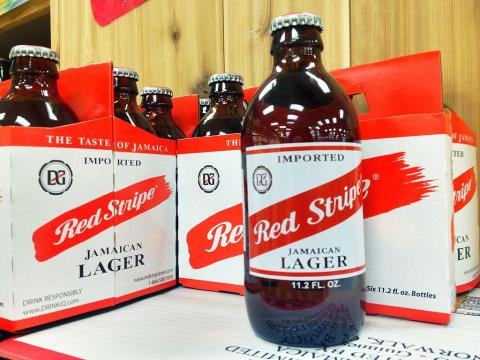 Jamaica es famosa por su cerveza Red Stripe.