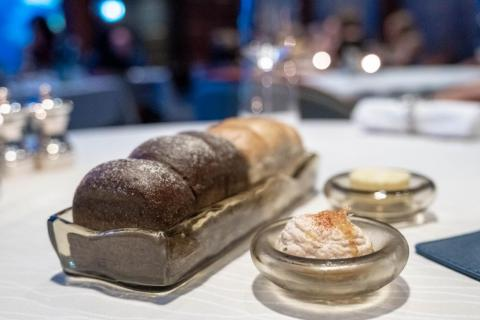 """The kitchen at Al Mahara was taken over by British Michelin-starred chef Nathan Outlaw in 2016, who is known for a """"pared-down approach"""" to local, sustainable seafood. It was quite a change of pace from the original menu,"""