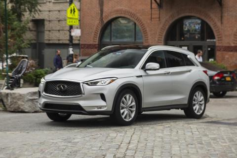 Let's start from the outside in. First things first, the QX50 is a real looker. The sculpted sheet metal with its numerous creases, curves, and angles make for a modern and stylish crossover SUV.