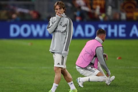 Luka Modric, antes de un partido con el Real Madrid