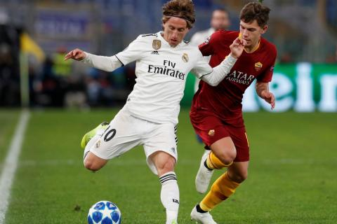 Luka Modric, durante un partido contra la AS Roma