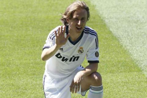 Luka Modric, en su presentación con el Real Madrid