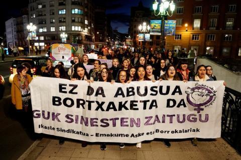 Manifestación en Bilbao contra la sentencia del caso La manada.