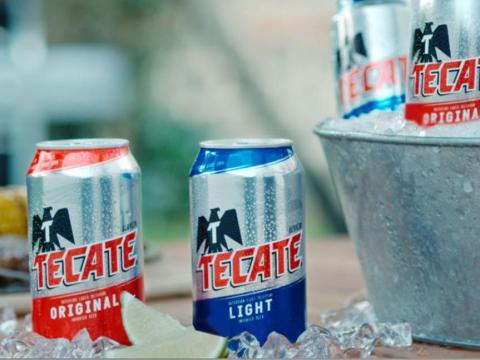 Existen muchas cervezas mexicanas, pero Tecate es una de las mejores.