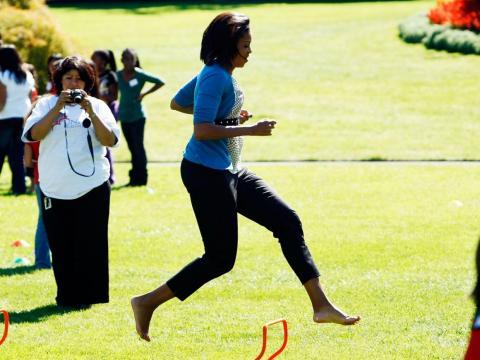 Michelle Obama runs