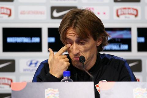 Modric, durante una rueda de prensa