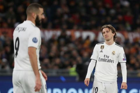 Modric, junto a Karim Benzema