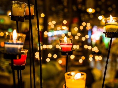 In Norway, families light a candle every night starting on Christmas Eve and ending on New Year's Day.