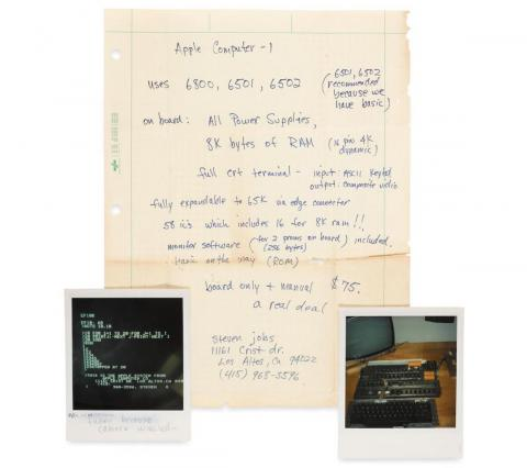 A note handwritten by Steve Jobs about how the first Apple computer was 'a real deal' at $75 has been unearthed