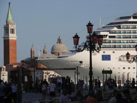 In November 2017, it was announced that Venice would block these cruise ships from passing through the Grand Canal by Venice's iconic square, Piazza San Marco.