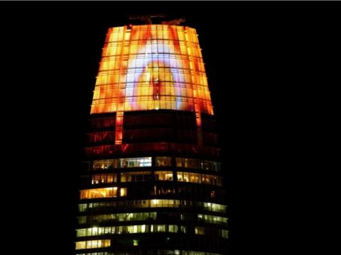 "NOVEMBER: Not helping the tech industry's growing reputation for doing evil, the Salesforce Tower was lit up like the Eye of Sauron from ""The Lord of the Rings."""
