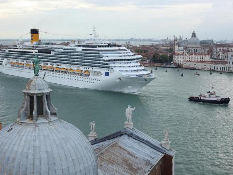 "One environmental scientist told The Guardian that ""the passage of every single ship causes erosion of the mudflats and sediment loss"" in the heart of historic Venice."