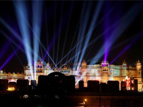 Otras festividades previas a la boda se celebraron en la ciudad de Udaipur, en el oeste de la India.