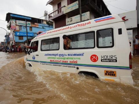 Las inundaciones en la región india de Kerala fueron las peores en décadas