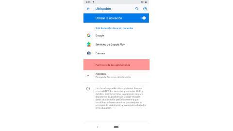 Permisos de las aplicaciones Android
