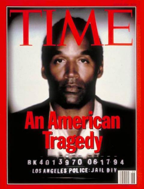 En la portada del 27 de junio de 1994 de Time estaba O.J. Simpson. [RE]