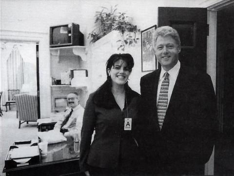 Monica Lewinsky and President Clinton in 1995.