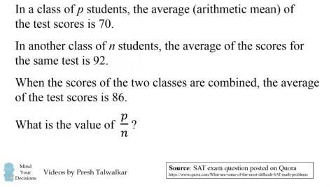 The SAT math question.
