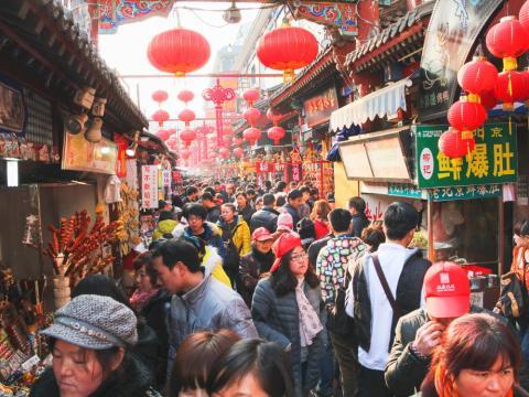 [Re] gente paseando calle en China
